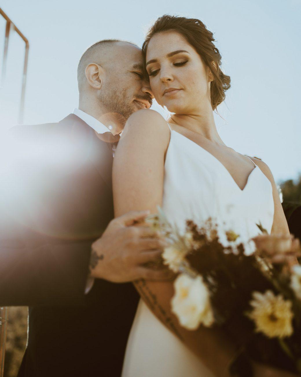Denver colorado modern bohemian bridal portraits by adventure elopement and destination wedding photographer Bethany Reid